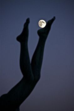 Beautiful girl with the moon a Love Moments