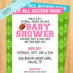 141 best football baby shower images on pinterest football baby printable football baby shower invitation boy or by happydelivery 1500 baby girl shower themes filmwisefo