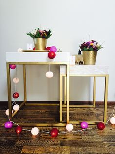 Diy golden & marble coffee table!   A&A at HoMe - Blogi | Lily.fi