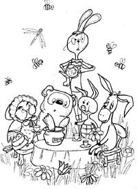 richard scarry halloween coloring pages - photo#19