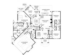 Country House Plan with 2383 Square Feet and 3 Bedrooms from Dream Home Source | House Plan Code DHSW075888