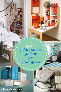 5 Genius Hidden Storage Solutions for a Small Space!