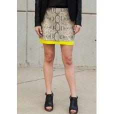 Snake Printed Skirt