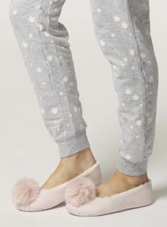 Pink pompom ballerina slippers - the perfect girly Christmas gift #DorothyPerkins