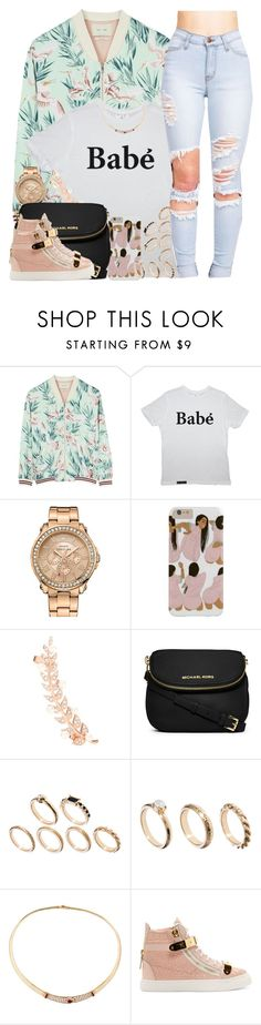"""Inspired by @oh-aurora"" by nasiaswaggedout ❤ liked on Polyvore featuring Maison Scotch, Juicy Couture, Joanna Laura Constantine, MICHAEL Michael Kors, ASOS, Van Cleef & Arpels and Giuseppe Zanotti"