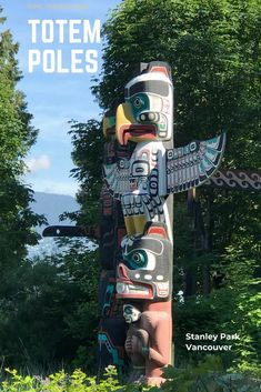 First Nation Totem Poles in Stanley Park, Vancouver BC. Stanley Park Vancouver, Vancouver Travel, Canada Travel, Travel Usa, Canada Trip, Alberta Canada, Road Trip, Escalante National Monument, Canada Destinations
