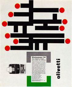 Olivetti Divisumma 24 AD Designed by Giovanni Pintori, 1963