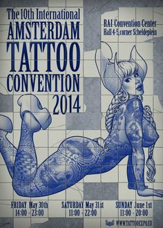 Amsterdam Tattoo Convention May 30 - 1 June 2014 http://worldtattooevents.com/amsterdam-tattoo-convention/ — in Amsterdam, Netherlands.