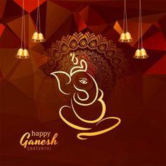 Beautiful Card Ganesh Chaturthi Lord Ganesha Festival Background Vector and PNG Ganesh Chaturthi Greetings, Ganesh Chaturthi Images, Happy Ganesh Chaturthi, Ram Wallpaper, Ganesh Wallpaper, Ganesha Art, Lord Ganesha, Rose Background, Geometric Background