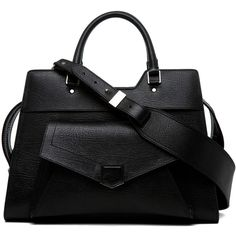 Proenza Schouler PS13 Small Vacchetta in Black ($2,250) ❤ liked on Polyvore.Hello beautiful