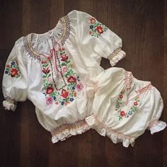 WEBSTA @ squashblossomvintage - vintage Hungarian embroidered peasant blouses for mama