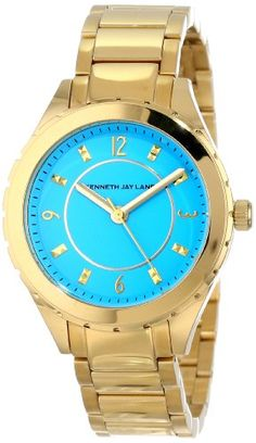 Damen Light Blue Dial Gold Tone Ion Plated Stainless Steel | Your #1 Source for Watches and Accessories