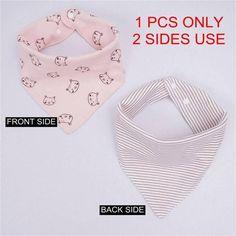 (1PCS ONLY) Cotton baby bibs Burp Cloths Fashion Animal Print baby bandana bibs dribble bibs
