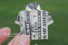 Doodlecraft: Origami Money folding: Shirt and Tie!
