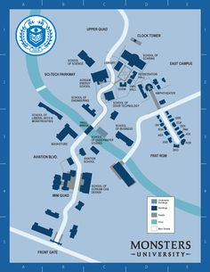 Monsters University Campus Map