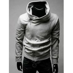 IZZUMI Side Zip Up Long Sleeve Neck Hoodie only $13.99