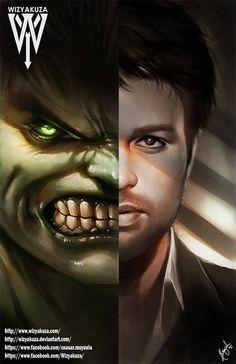 #Hulk #Fan #Art. (Hulk & Banner) By: Wizyakuza aka Ceasar Ian Muyuela. (THE…