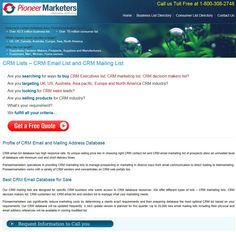 CRM Users List from PioneerMarketers - http://www.pioneermarketers.biz/email-list/crm-users-email-and-mailing-list