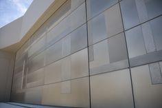 Axolotl Metal | Garage Door | Nickel | Design | Patchwork | Textural | Exterior | Architecture | Home