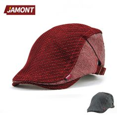 92af7584ff3 Fashion Red   Gray Breathable Cap Women Visors Flat Hat Berets for Men  Casual Summer Fall Cotton Hats Female Letters Beret Caps-in Berets from  Men s ...