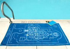 warby parker does it again - how adorable is this blueprint beach towel? they have the best branding extensions.