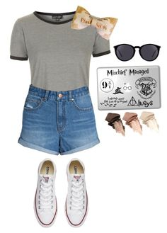 """""""Ehhh maaa blaA"""" by camillathebest ❤ liked on Polyvore featuring Topshop, Billabong, Converse, Yves Saint Laurent and Urban Decay"""