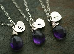 Set of 6 Personalized InitialHeart by tyrahandmadejewelry on Etsy