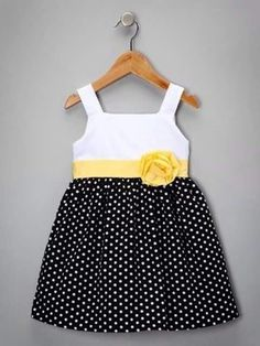 Black & Yellow Monica Dress - Girls by Joe-Ella on today! Toddler Girl Dresses, Toddler Outfits, Toddler Fashion, Kids Fashion, Toddler Girls, Little Girl Dresses, Girls Dresses, Cute Outfits For Kids, Kind Mode