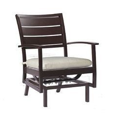 Charleston Spring Lounge Chair With Cushion By Summer Classics - Flagship Opal, Mahogany - Frontgate