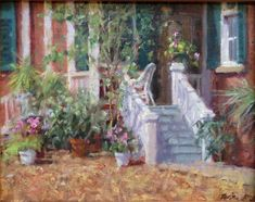 """Carolina Porch"" by Mitch Billis. Oil Painters, Porch, Gallery, Charleston, Artwork, Painting, Balcony, Work Of Art, Auguste Rodin Artwork"