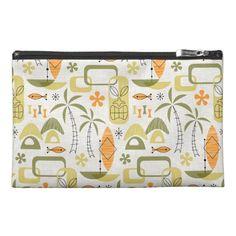 #pouch #accessorybag #bag #midcentury #midmod #mcm #modern #retro #atomic #tropical #tiki #hawaiian #hawaii #summer #beach #vacations #aloha #miavaldez #zazzle