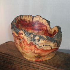 Box Elder Burl Wood Turned Bowl by Bullmountaindesigns on Etsy, $25.00