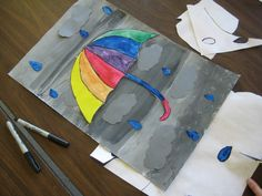 Art Room with a View: Colour Wheel Umbrellas