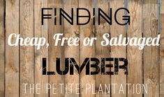 How to find FREE building materials for your next project! -- As we begin to gather materials for our off grid tiny cabin and homestead, we find ourselves looking for less expensive or even free lumber to reduce our footprint on the environment and keep cash in our pocket! Here are some of our resources we use to gather free or dirt cheap building materials!