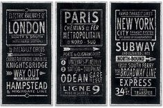 Posters Obraz na plátně Barry Goodman - London Paris New York, (150 x 100 cm)