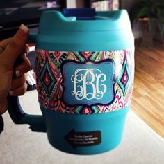 52 oz - LARGE Lilly Print Monogram Bubba Kegs on Etsy, $40.50- love a big bubba keg and Lilly Pulitzer!!
