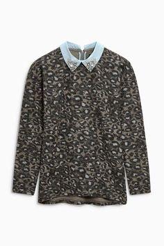 68d1ec6c111 Embellished collar top - £32.00 Next Chic, Tröjor