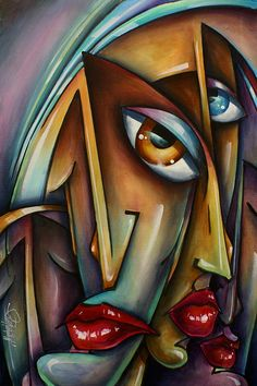 'faces' Painting by Michael Lang - 'faces' Fine Art Prints and Posters for Sale
