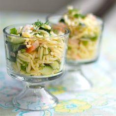 shrimp and feta orzo. an original Ina Garten recipe