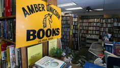 The Amber Unicorn used book store is best known for its large and varied inventory of cookbooks.