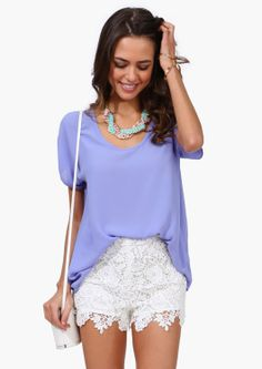 Lilac Top, ,tucked in just a little bit