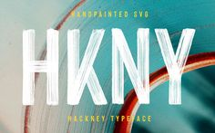 Hackney is entirely hand-painted sans serif. A raw, bold, condensed font, with brushy imperfections and an earthy realism. Hackney is entirely han Creative Fonts, Cool Fonts, Painted Letters, Hand Painted, Truetype Fonts, Paint Font, Condensed Font, Ttf Fonts, All Caps Font