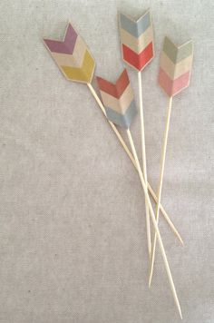 Chevron Cake Toppers: Use these for valentines day.  Or scatter in a cake like it's been shot.