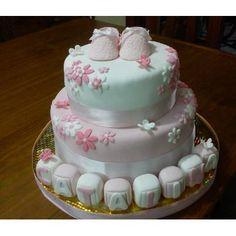 Tortas Decoradas Infantiles-15 Años-bodas-bautismo-comunion - $ 135,00 en MercadoLibre Torta Baby Shower, Baby Shawer, Ideas Para Fiestas, Pretty Cakes, Christening, Fondant, Cake Recipes, Birthday Cake, Candy