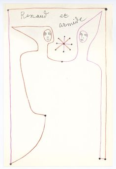 Artist: Jean Cocteau. Medium: original lithograph. Printed by Mourlot and published in Paris in 1957. The Print Archive. Not signed or numbered.   eBay!