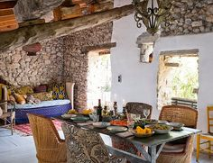 Una casa de campo, en el sur de Francia, con piezas de mercadillo | Etxekodeco