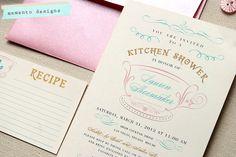 Kitchen Shower Invitation and Recipe Card DIY PRINTABLE. $20.00, via Etsy.