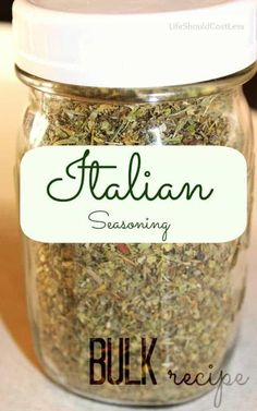 I like to make my herb and spice mixtures from scratch, but I don't like to do it every time that I need it. This is why I adapted a basic Italian Seasoning recipe to Homemade Italian Seasoning, Italian Seasoning Mixes, Homemade Spices, Homemade Seasonings, Zesty Italian Dressing Mix Recipe, Vinaigrette, Ketchup, Pint Jar, Italian Spices