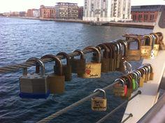 Love Locks on Bryggebroen in Copenhagen. Photo: Camilla Momme