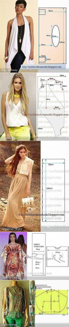 mô hình đơn giản của quần áo phụ nữ